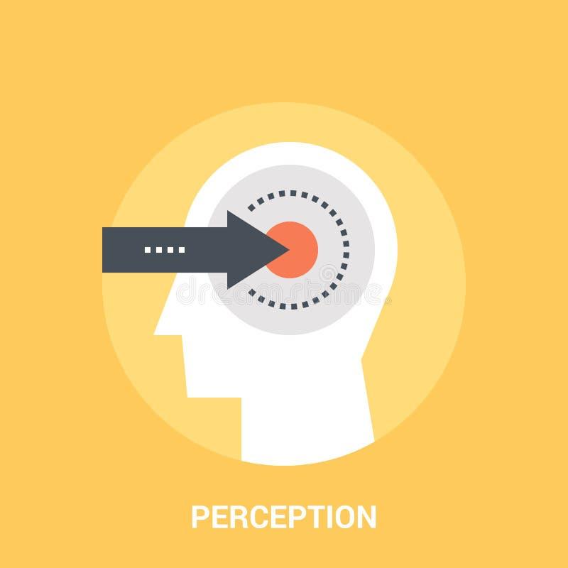 Het concept van het waarnemingspictogram vector illustratie
