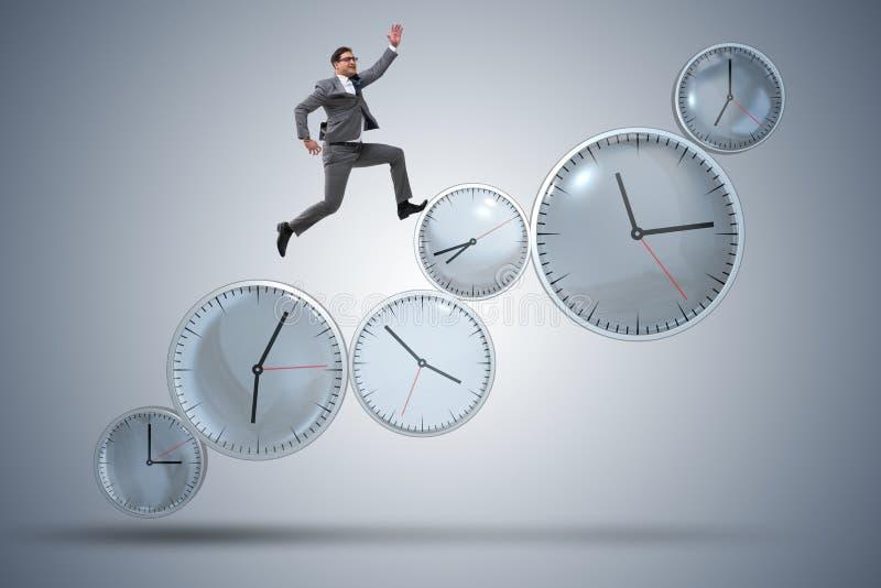 Het concept van het zakenman in time beheer royalty-vrije stock fotografie
