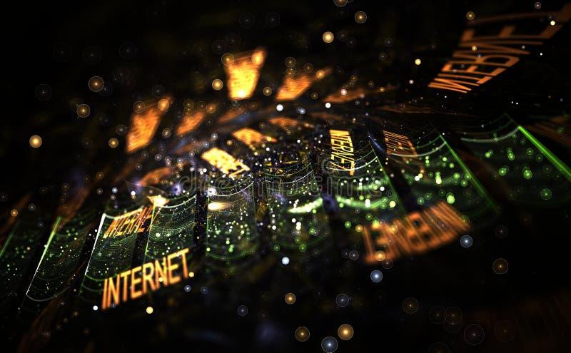 Het concept van Internet royalty-vrije illustratie