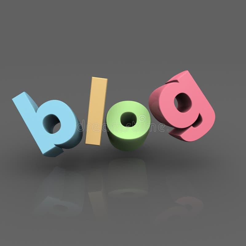 Het concept van Internet blog vector illustratie