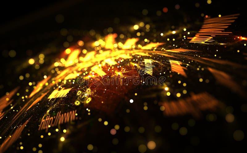 Het concept van Internet Digitaal beeld van kleurrijke lichte en abstracte vormen stock illustratie