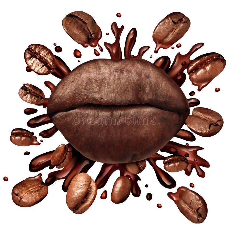 Het Concept van koffielippen royalty-vrije illustratie