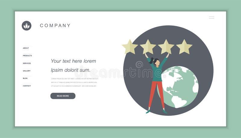 Het concept van koppelt, huldeblijkenberichten en berichten terug Het schatten op de illustratie van de klantendienst vector illustratie