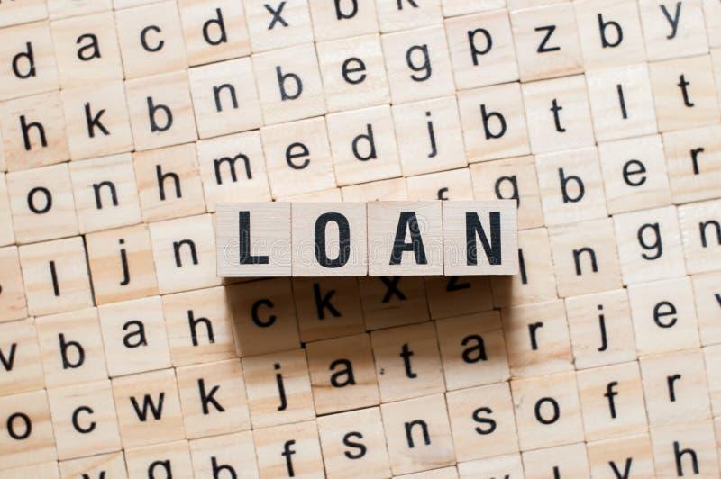 Het concept van het leningswoord royalty-vrije stock afbeelding