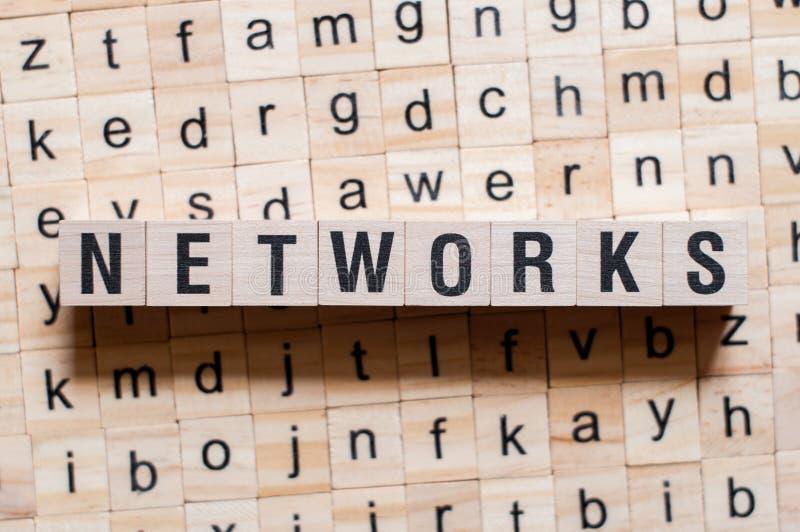 Het concept van het netwerkenwoord royalty-vrije stock foto