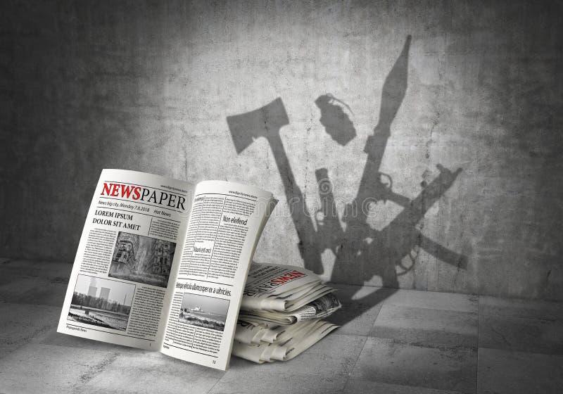 Het concept van het nieuws Kracht van nieuws stock illustratie