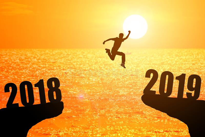 het concept van het nwsjaar van 2019 royalty-vrije stock foto