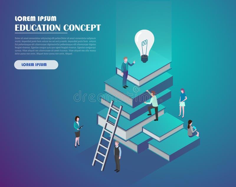 Het concept van het onderwijs en van de kennis vector illustratie