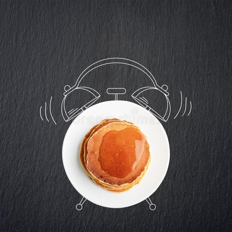 Het concept van het ontbijt stock foto