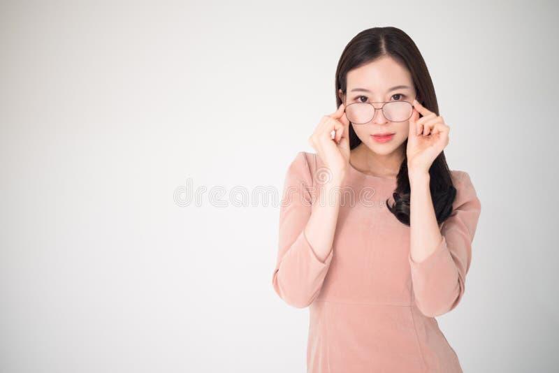Het concept van oogproblemen zoals near-sighted, verziende bijziendheid, stock foto