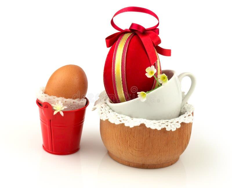 Het concept van Pasen met eieren stock afbeeldingen