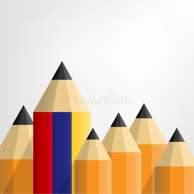Het concept van het potlood vectoronderwijs abstract het leren creatief idee stock illustratie