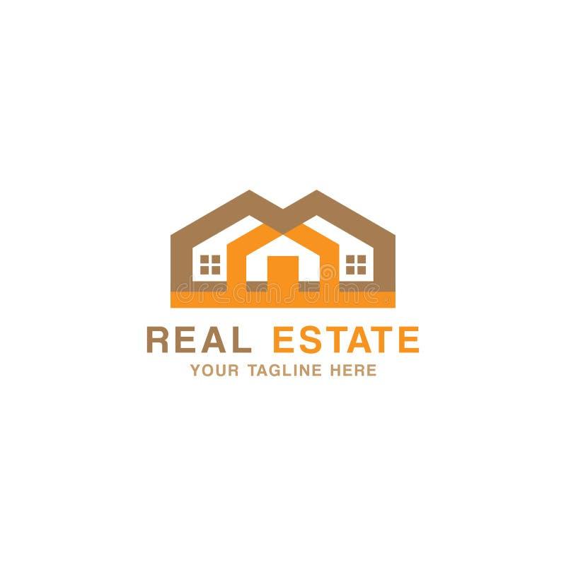 Het concept van Real Estate Logo Design en adreskaartjemalplaatje vector illustratie