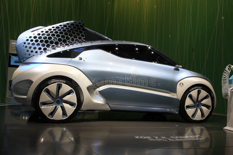 Het Concept van Renault Zoe ZE stock afbeelding
