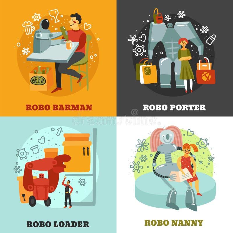 Het Concept van het robotsontwerp stock illustratie