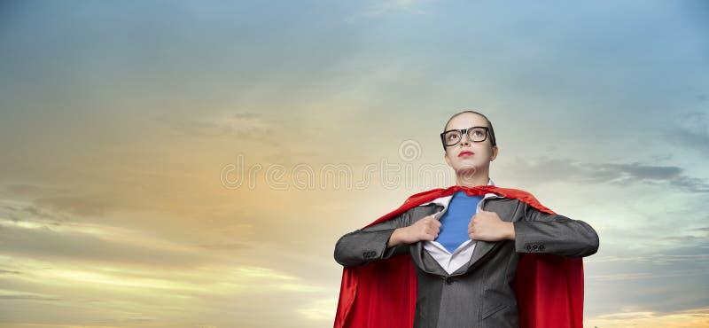 Het concept van super is in zaken Gemengde media stock foto's