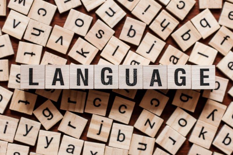 Het concept van het taalwoord stock foto