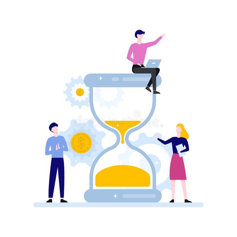 Het Concept van het tijdbeheer Idee van programma en organisatie royalty-vrije illustratie