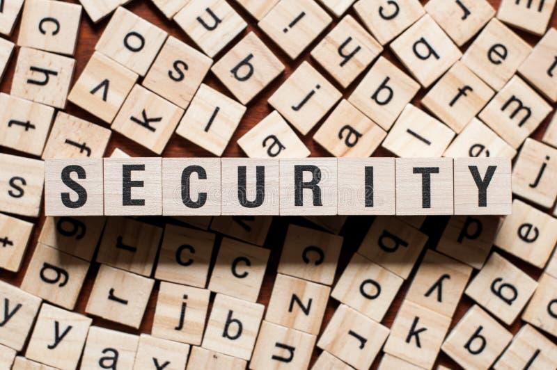 Het concept van het veiligheidswoord royalty-vrije stock foto's