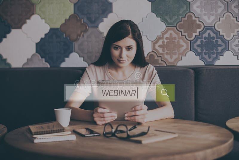Het concept van Webinar royalty-vrije stock afbeelding
