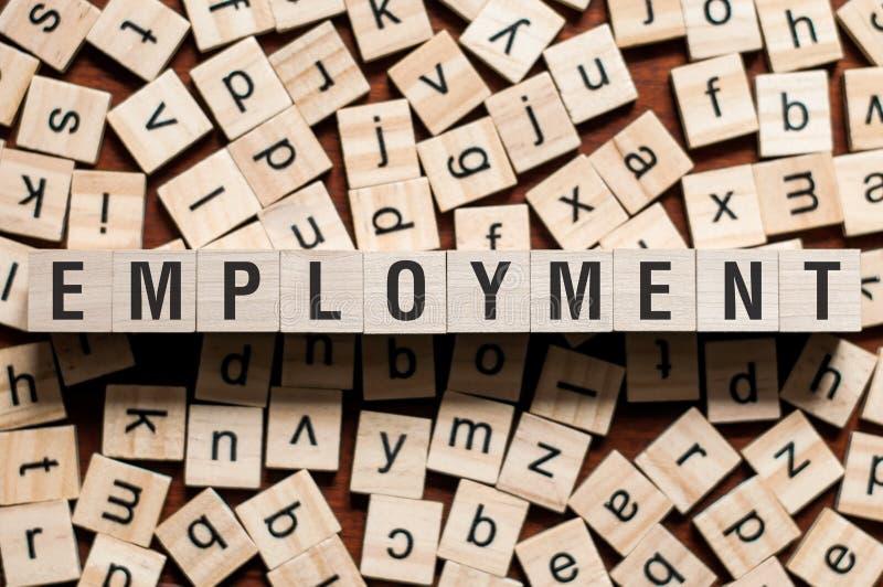 Het concept van het werkgelegenheidswoord stock afbeelding