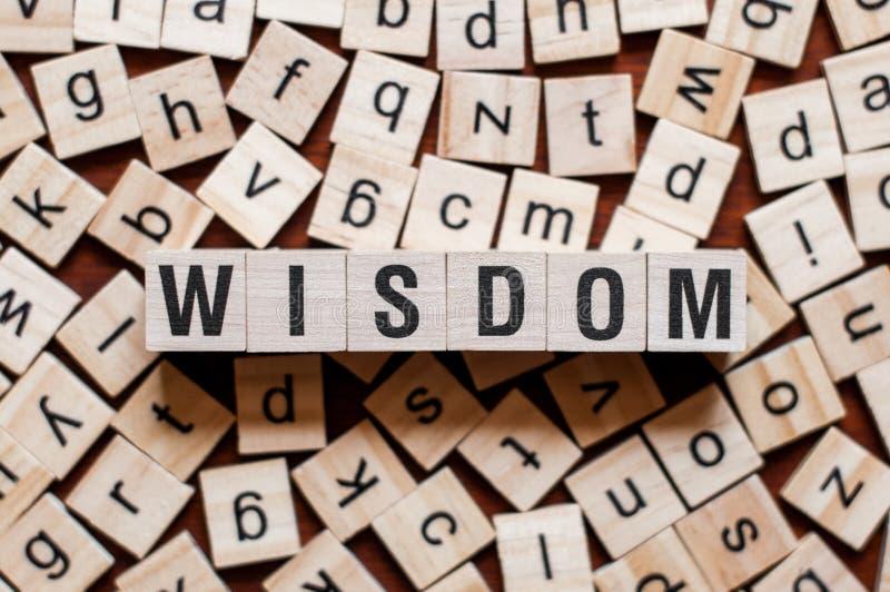 Het concept van het wijsheidswoord stock afbeelding