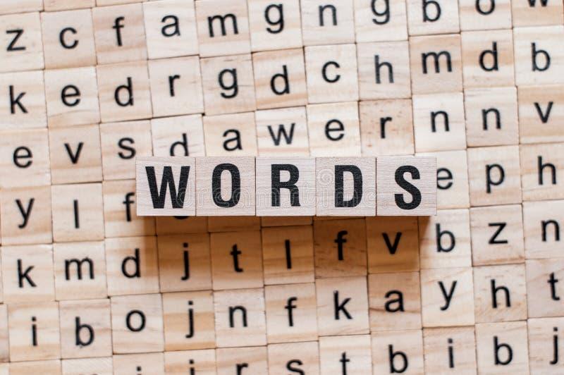 Het concept van het woordenwoord royalty-vrije stock afbeeldingen