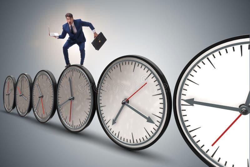 Het concept van het zakenman in time beheer royalty-vrije stock foto's
