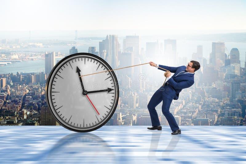 Het concept van het zakenman in time beheer stock afbeeldingen