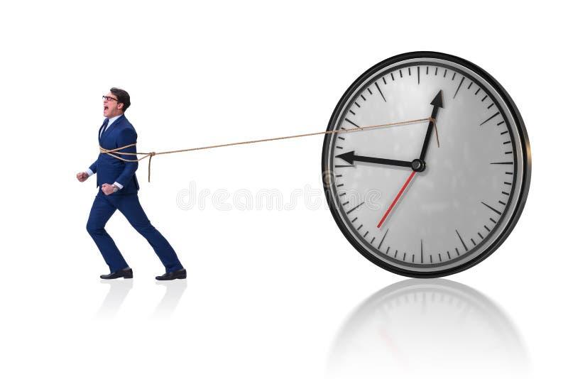 Het concept van het zakenman in time beheer royalty-vrije stock afbeelding