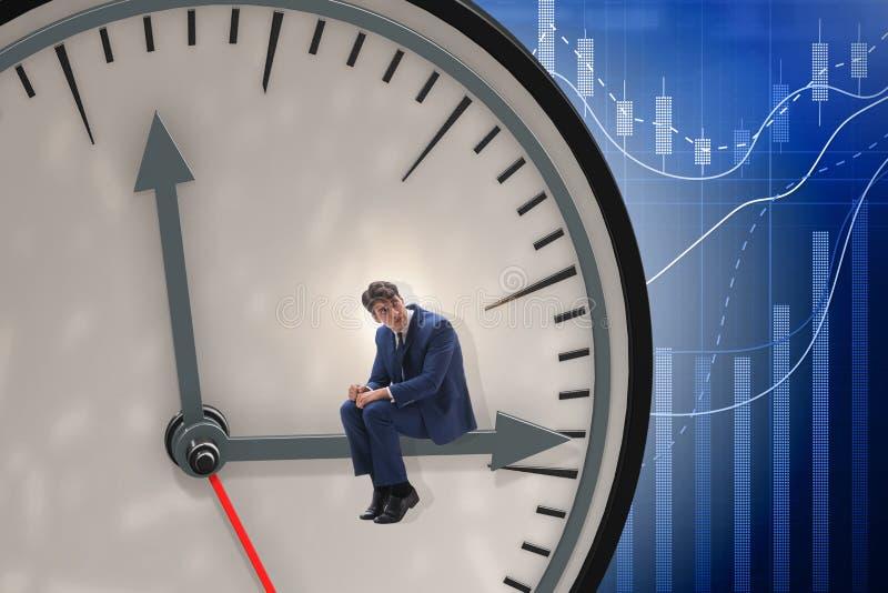 Het concept van het zakenman in time beheer stock afbeelding