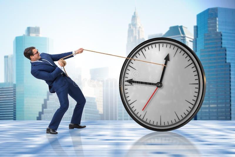 Het concept van het zakenman in time beheer royalty-vrije stock afbeeldingen
