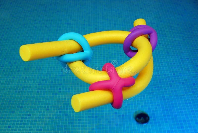Het concept van het zwembadmateriaal stock fotografie
