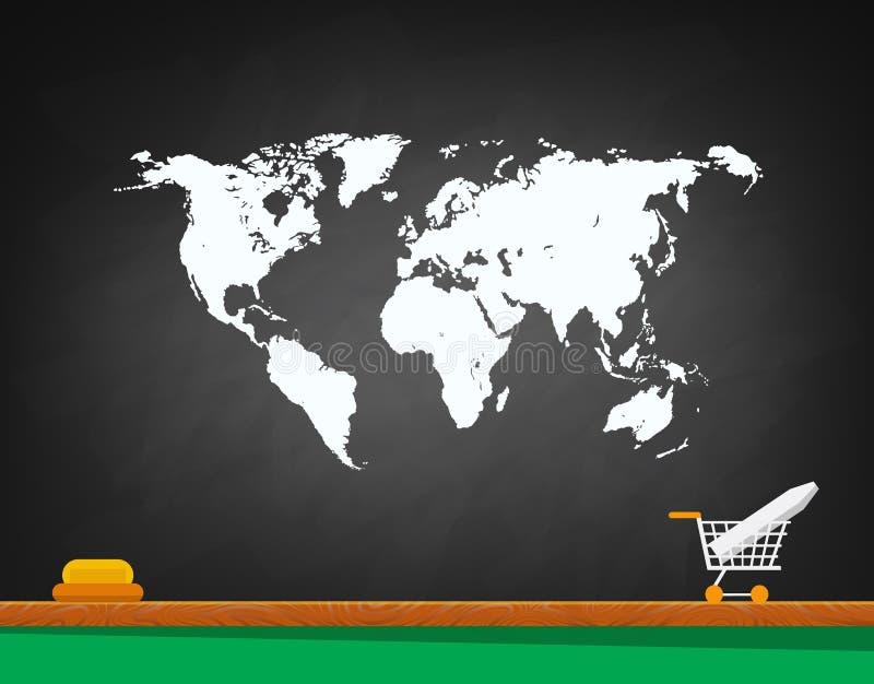 Het concept wereldhandel royalty-vrije illustratie