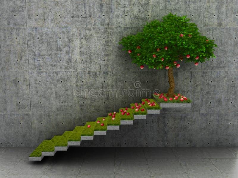 Het concept winst en de groei royalty-vrije illustratie