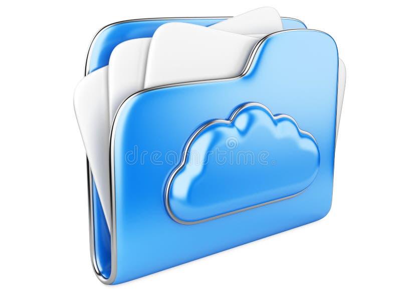 Het concepten 3d pictogram van de wolkenopslag royalty-vrije illustratie