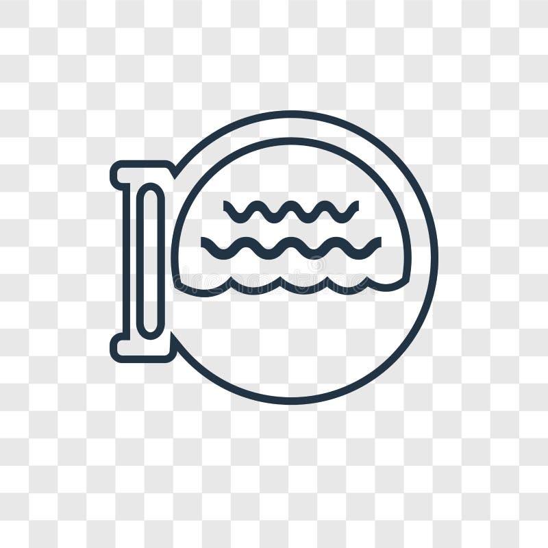 Het concepten vector lineair die pictogram van de bootpatrijspoort op transparant wordt geïsoleerd royalty-vrije illustratie