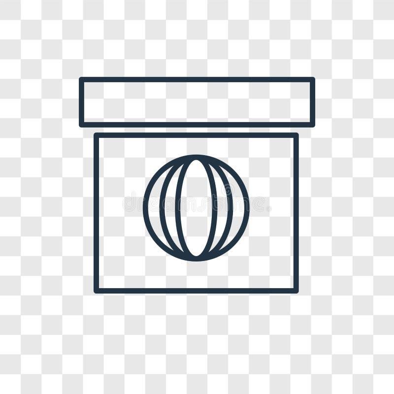 Het concepten vector lineair die pictogram van het Webpakket op transparante B wordt geïsoleerd stock illustratie
