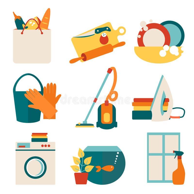 Het concepten vectorillustratie van het huiswerk royalty-vrije illustratie