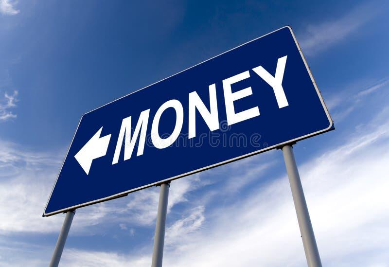 Het conceptenaanplakbord van het geld royalty-vrije stock afbeelding