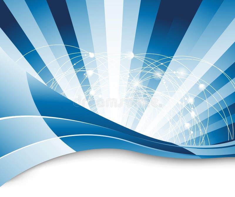 Het conceptenabstractie van de aansluting - achtergrond vector illustratie