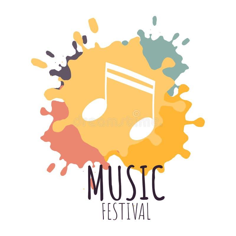 Het conceptenaffiche van het muziekfestival royalty-vrije illustratie