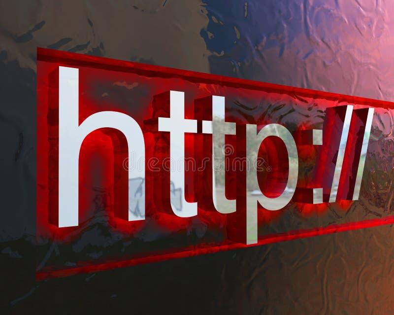 Het conceptenbeeld van HTTP vector illustratie