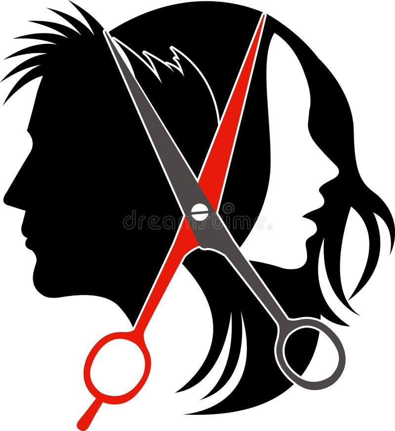 Het conceptenembleem van de salon vector illustratie