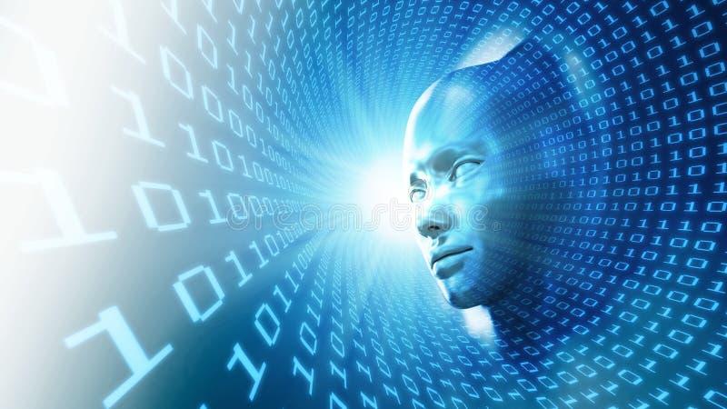 Het conceptenillustratie van de kunstmatige intelligentie royalty-vrije illustratie