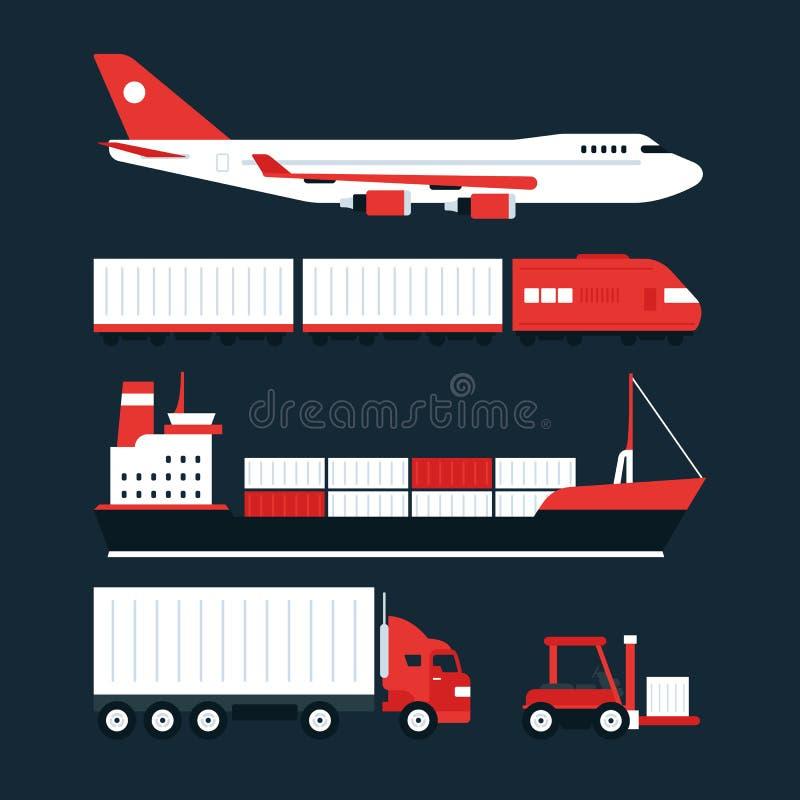 Het conceptenillustraties van de ladings volgende dienst stock illustratie