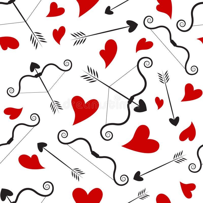 Het conceptenpatroon van de liefde stock illustratie