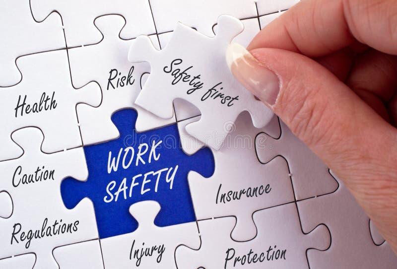 Het Conceptenraadsel van de het werkveiligheid stock afbeelding