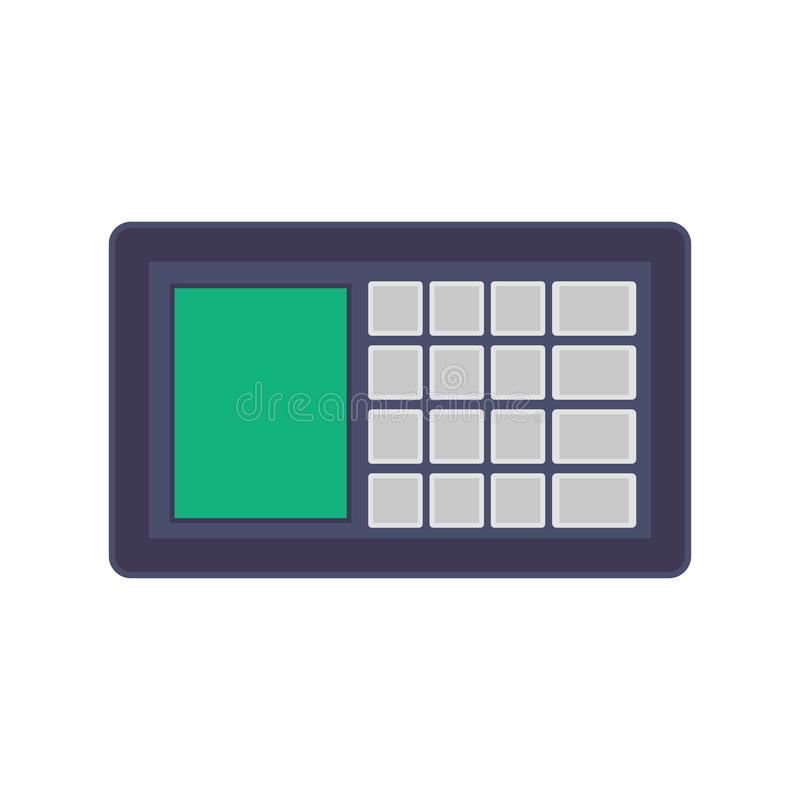 Het conceptentechnologie van het veiligheidssysteem vectorpictogram Het digitale huis van de beschermingscontrole Wacht het netwe stock illustratie