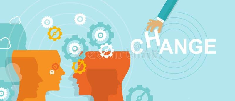 Het conceptenverbetering van het veranderingsbeheer richting stock illustratie